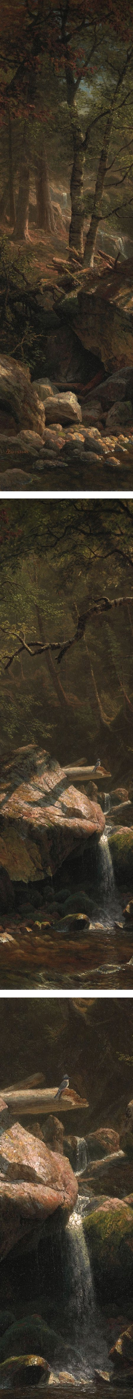 Mountain Brook, Albert Bierstadt (details)