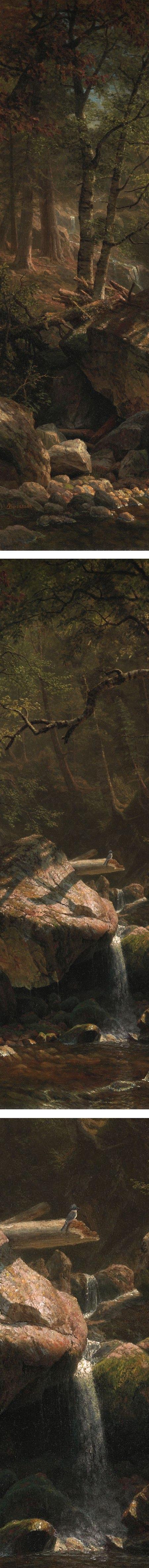 Mountain Brook, Albert Bierstadt (détails)