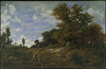 The Edge of the Woods at Monts-Girard, Fontainebleau Forest, Théodor Rousseau