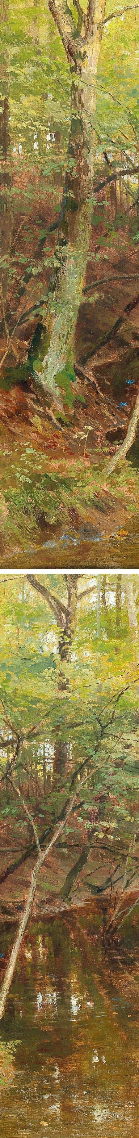 Woodland Stream, (details) Hugo Darnaut