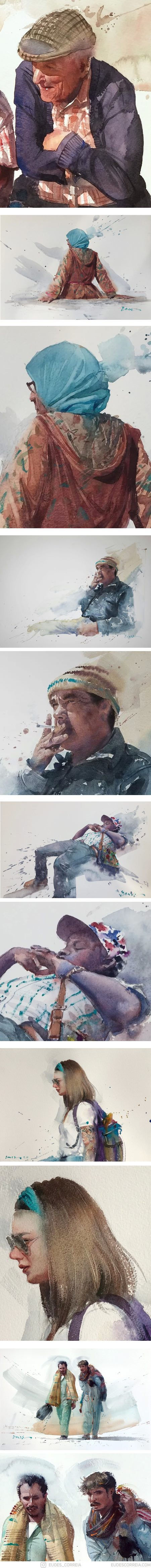 Eudes Correia watercolors