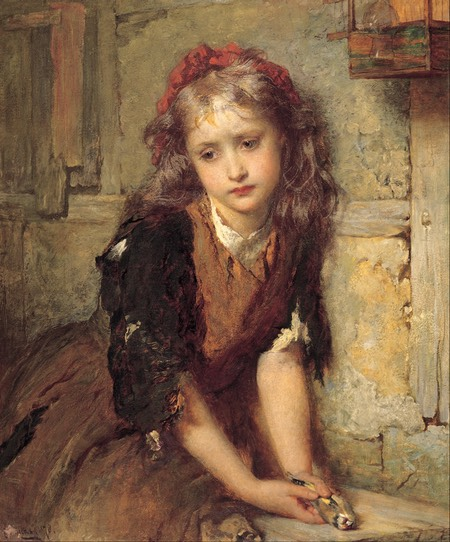 The Dead Goldfinch (All that was left to love), George Elgar Hicks