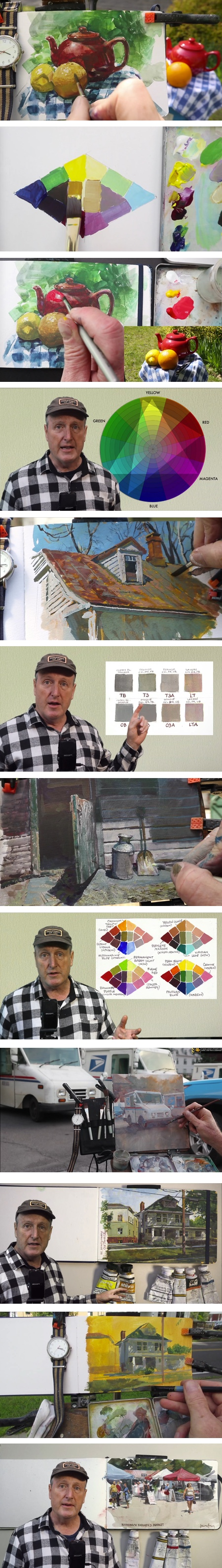 TRIADS: Painting with Three Colors, art instruction video by James Gurney