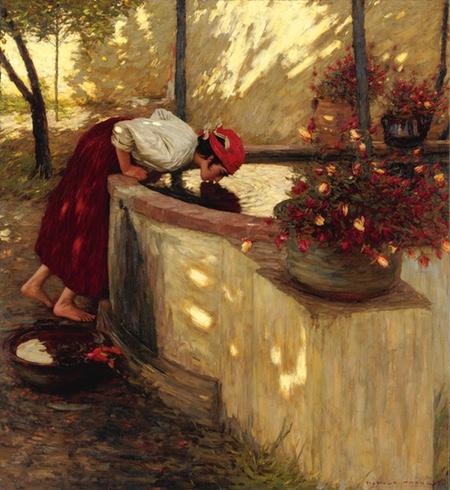 Ligurian Roses, Henry Herbert La Thangue