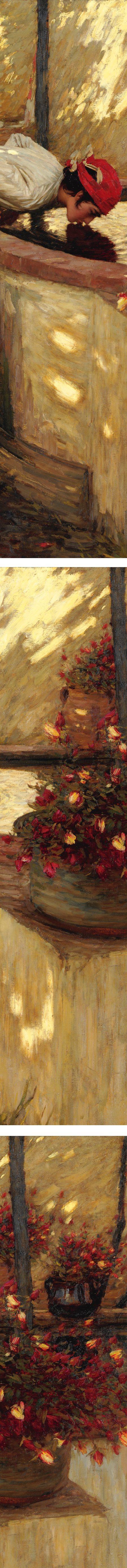 Ligurian Roses, Henry Herbert La Thangue (details)