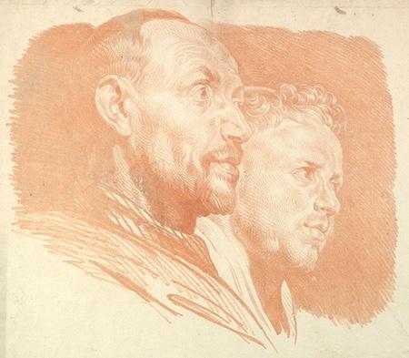 Jakob Matthias Schmutzer chalk drawing