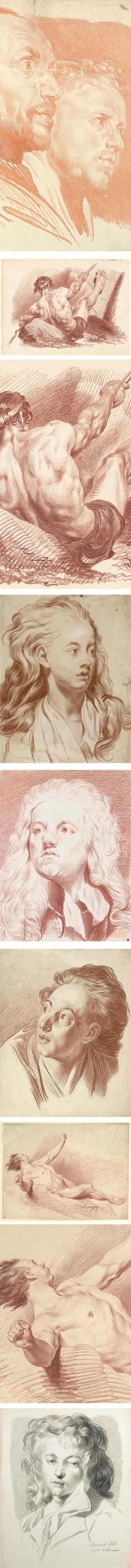 Jakob Matthias Schmutzer chalk drawings