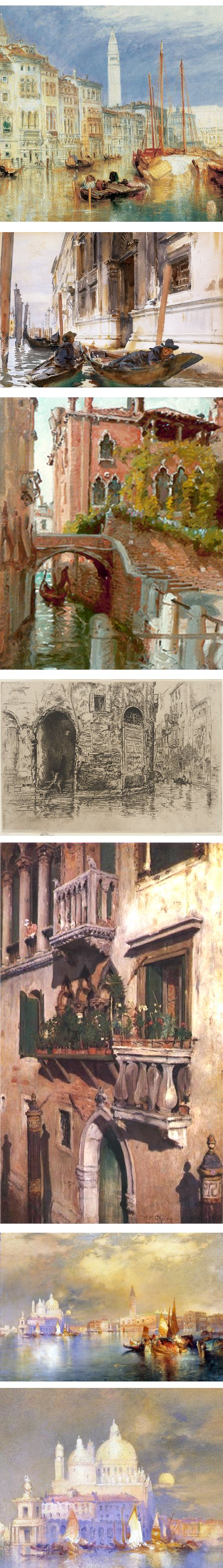 Artists views of Venice: Turner, Sargent, Anna Richards Brewster, Whistler, William Merritt Chase, Thomas Moran
