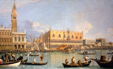 Artists views of Veince, Canaletto