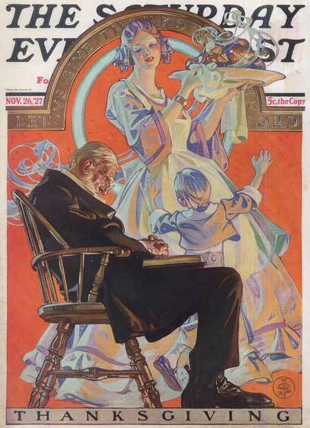 Thanksgiving cover for The Saturday Evening Post, November 26, 1927, J.C. Leyendecker