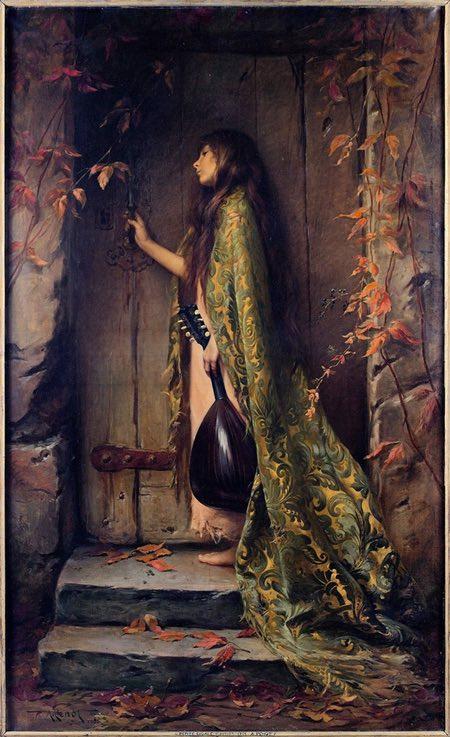 La Petite Cigale or portrait of the artist's daughter, Albert Joseph Penot