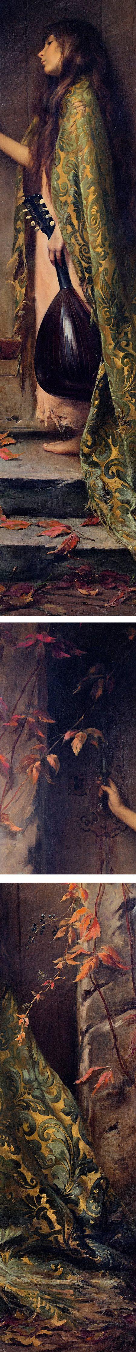 La Petite Cigale or portrait of the artist's daughter, Albert Joseph Penot (details)