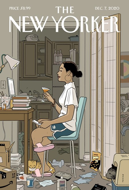 Adrian Tomine, New Yorker cover, Dec 7, 2020