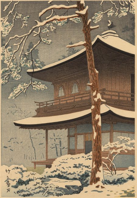 Snow at Ginkakuji Temple, Asano Takeji
