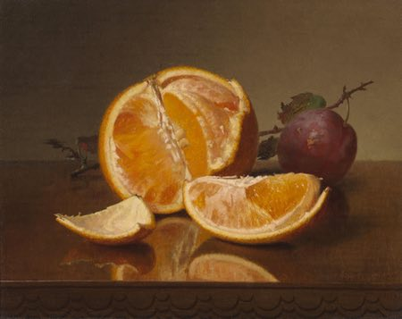 Still life with Orange and Plum, Robert Spear Dunning