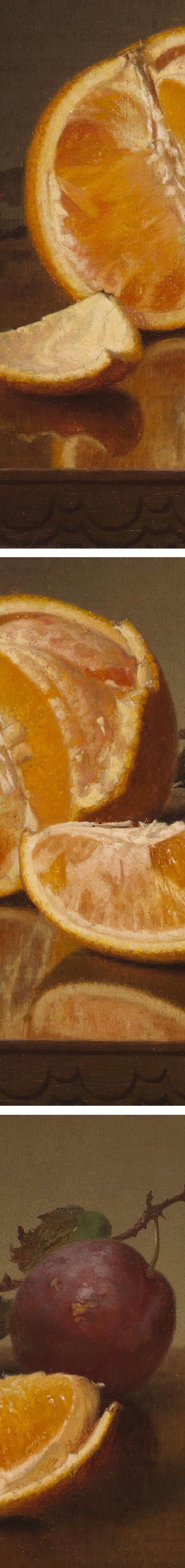 Still life with Orange and Plum, Robert Spear Dunning (details)