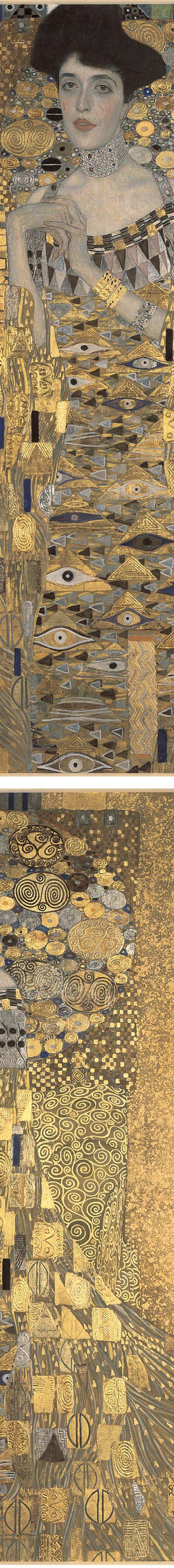 Portrait of Adele Bloch-Bauer (detaile), Gustav Klimt