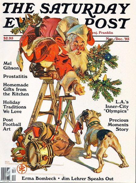 J.C. Leyendecker Santa Claus Saturday Eevening Post cover