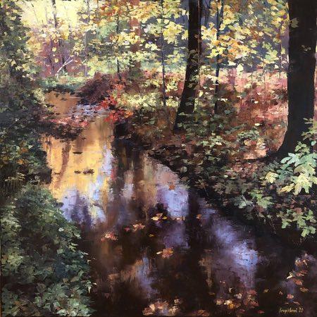 Martina Krupickova palette knife painting