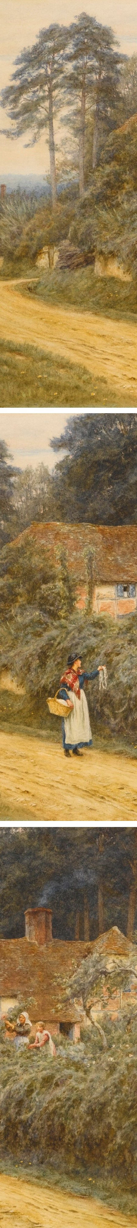 The Basket Woman, Hellen Allingham (details0