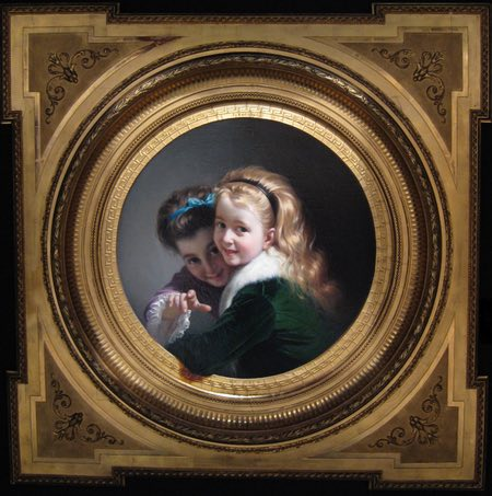 Two Laughing Girls, Pere Borrell del Caso trompe-lœil painting