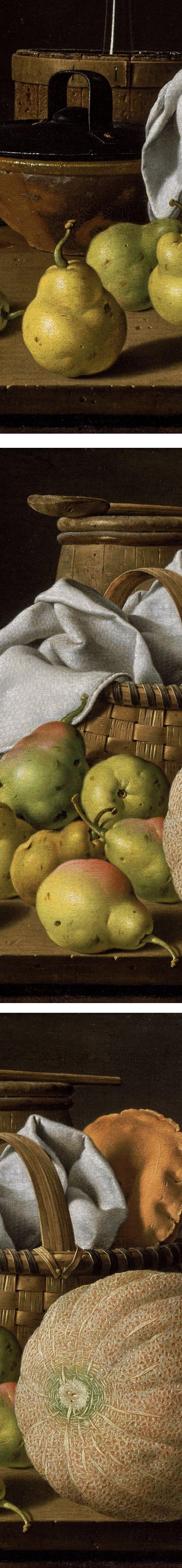 Still life with Melon and Pears, Luis Egidio Melendez