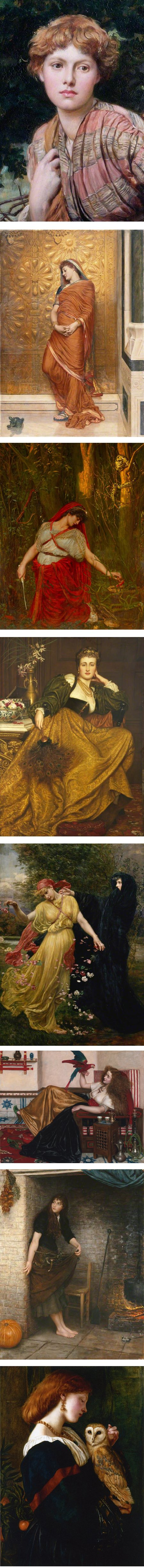 Pre-Raphaelite paintings by Valentine Cameron Prinsep