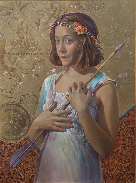 Fred Wessel, egg tempera, gold leaf, silverpoint