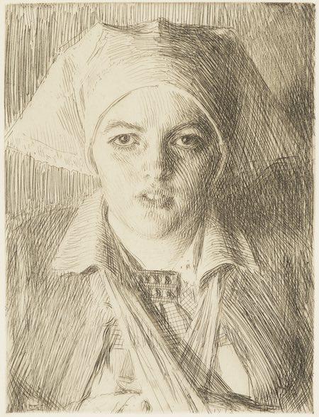 Gulli II, Anders Zorn, etching