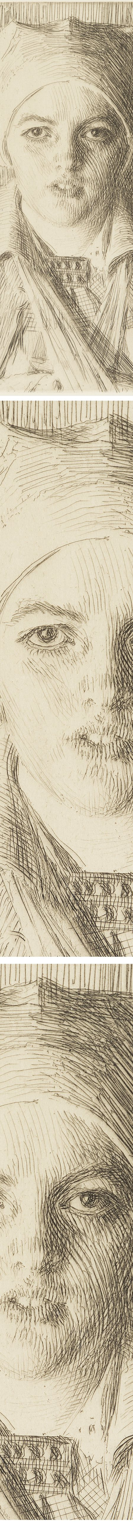 Gulli II, Anders Zorn, etching (details)