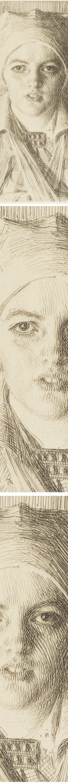 Gulli II, Anders Zorn, etching (details)