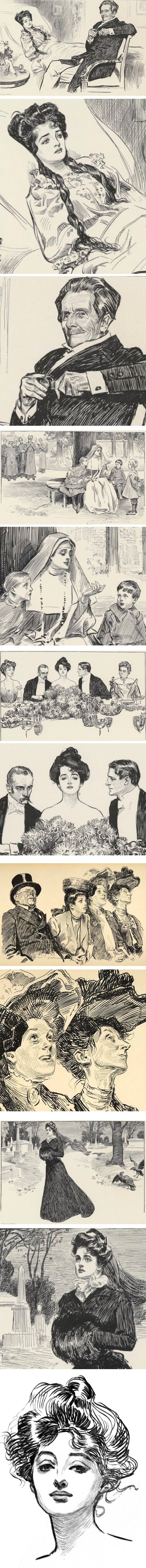 Charles Dana Gibson, pen and ink illustration