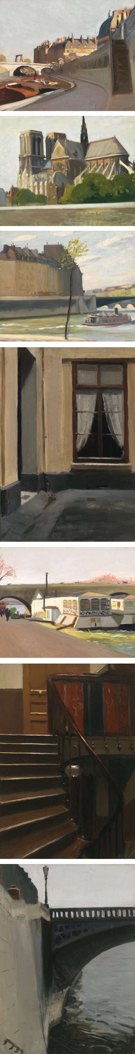 Hopper in Paris. paintings