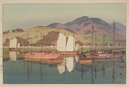 Hiroshi Yoshida japanese woodblock prints exhibit in Tokyo