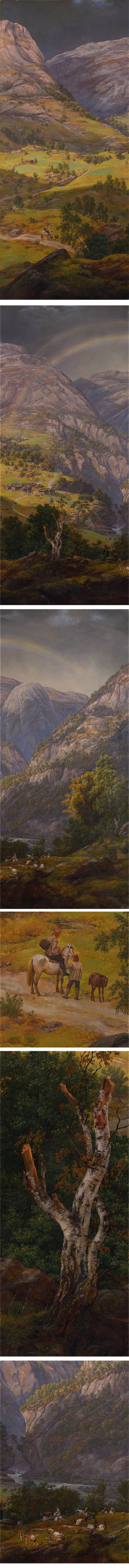 View From Stalheim, Johan Christian Dahl, oil on canvas
