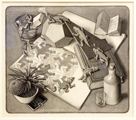 M.C. Escher, Reptiles, lithograph