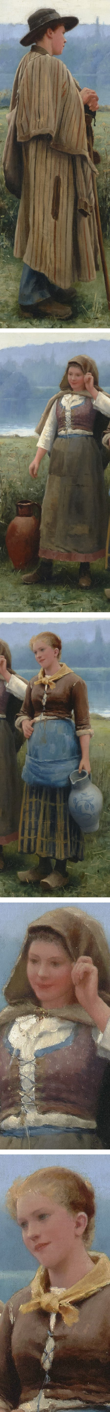 An Idle Moment, Daniel Ridgway Knight, oil on canvas