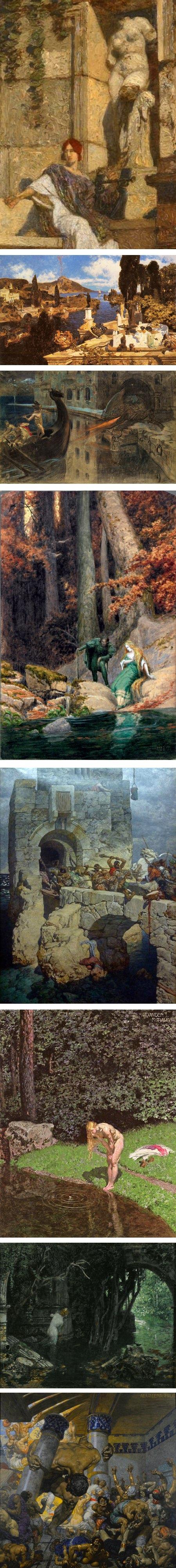 Alexander Rothaug, mythological painting and illustration