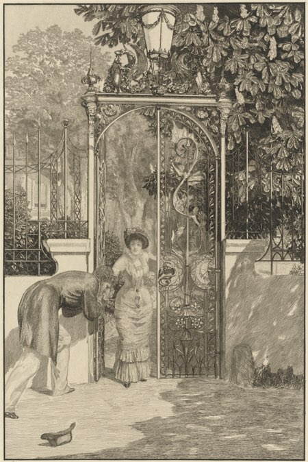At the Gate (Am Thor), Max Klinger; etching and engraving