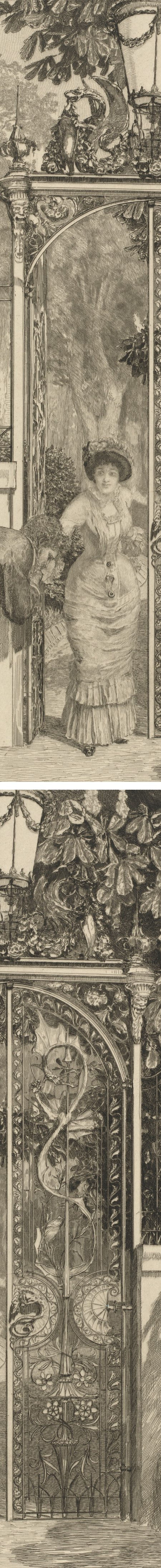 At the Gate (Am Thor), Max Klinger; etching and engraving (details)