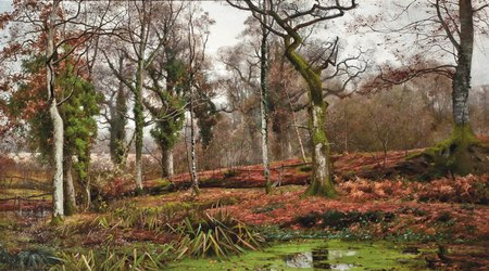 Arvid Mauritz Lindstrom, landscape paintings