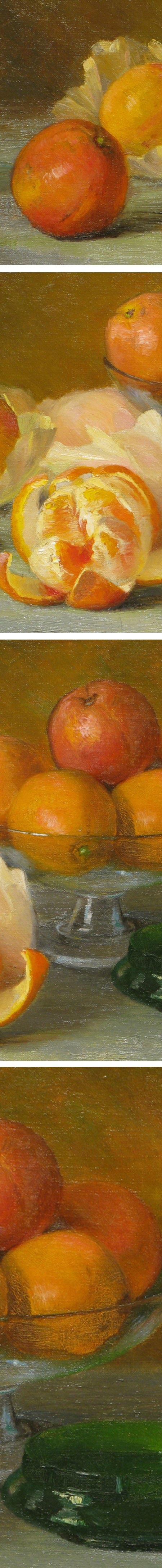 Still Life with Oranges, Adelaide Palmer (details)