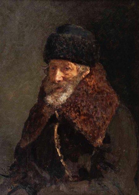 Portrait of the artist's father, Ilya Repin