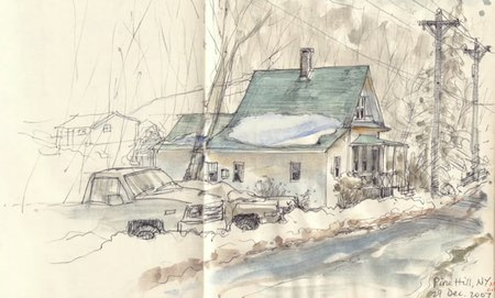Sketches in Line and Wash by Jeanette L. Gurney