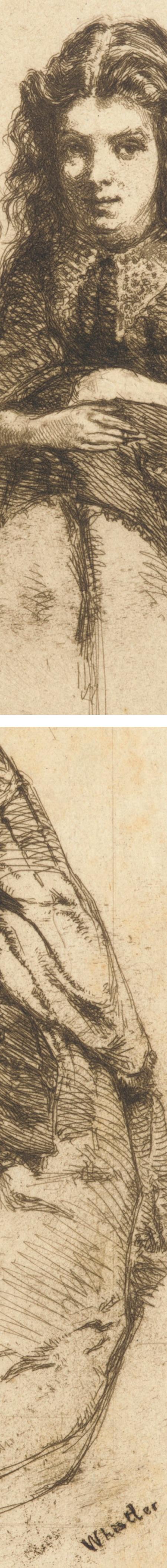 Fumette, etching whistler (details)