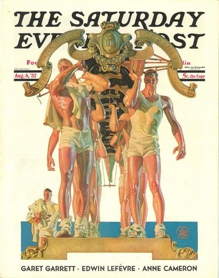 Rowers, SEP cover, J.C. Leyendecker
