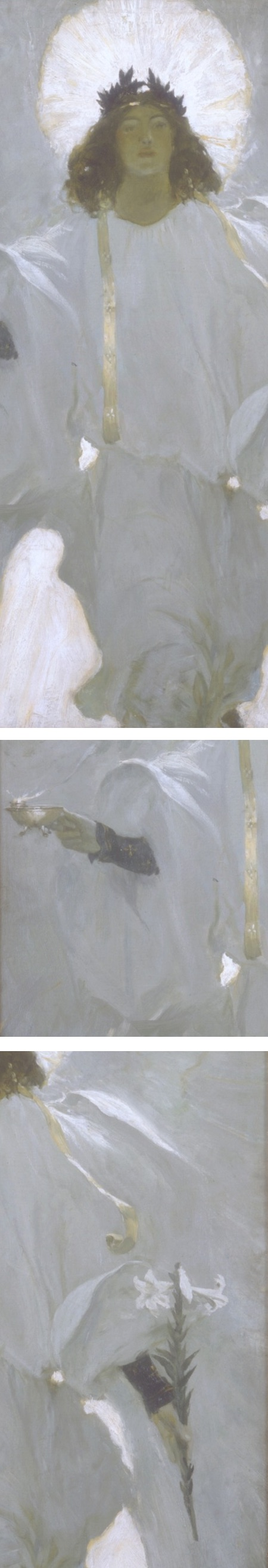 Why seek ye the living in a place of the dead?, Howard Pyle, illustration (details)