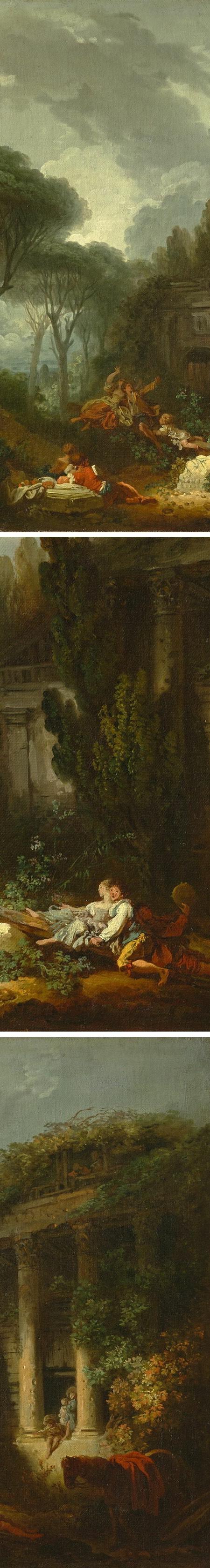 La Bascule, Jean-Honore Fragonard (details)
