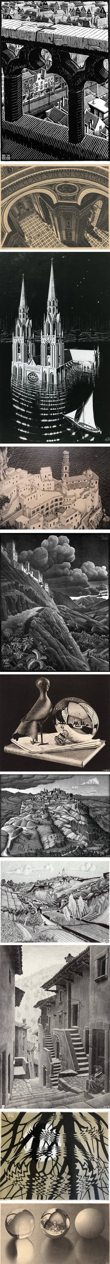 Some early work by M.C. Escher