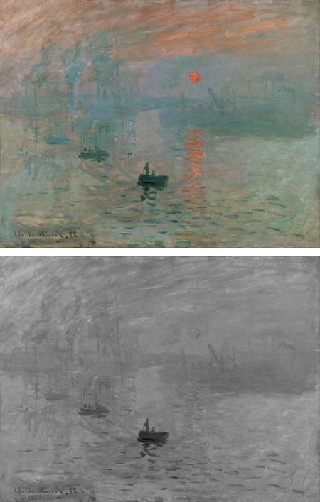 Values in Monet's Impression Sunrise